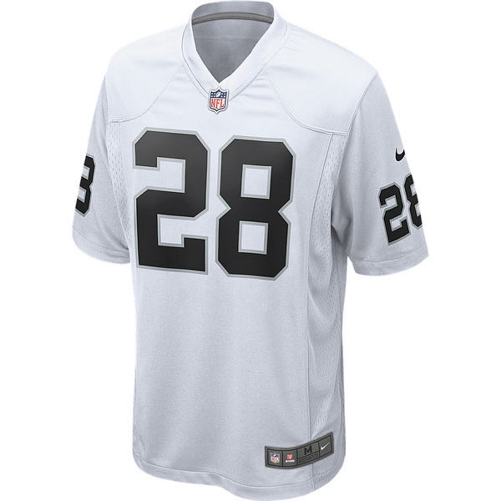 huge discount d2ac0 0327b Latavius Murray Unsigned Oakland Raiders White Nike Game Jersey Size Large