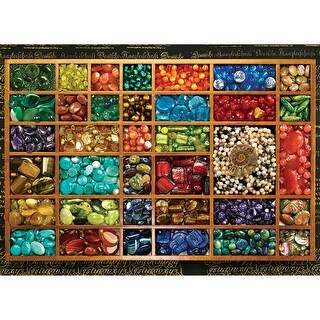 "Jigsaw Puzzle 1000 Pieces 19.25""X27""-Bead Tray"