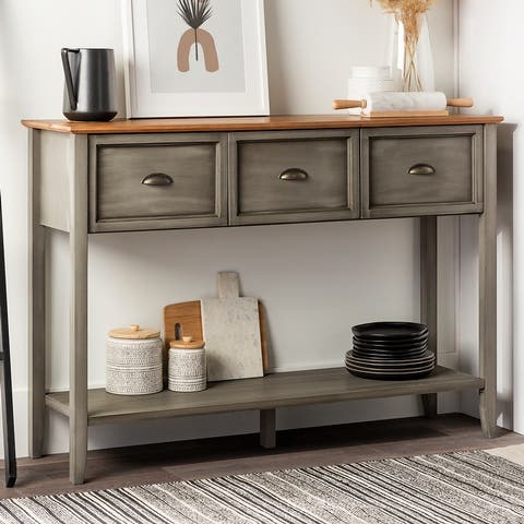 The Gray Barn 3 Drawer Buffet Table