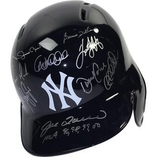 New York Yankees 11 Signature Dynasty Batting Helmets Left Ear Flap w All 4 96989900 Insc by Joe To