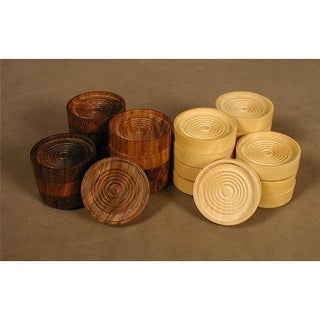 Chopra 3035 1.25 in. Wood Stacking Checkers