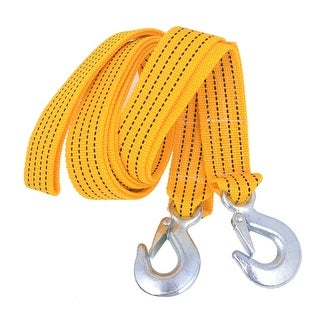 Unique Bargains Trailer Emergency Nylon Towing Strap Yellow 3.5 Meters