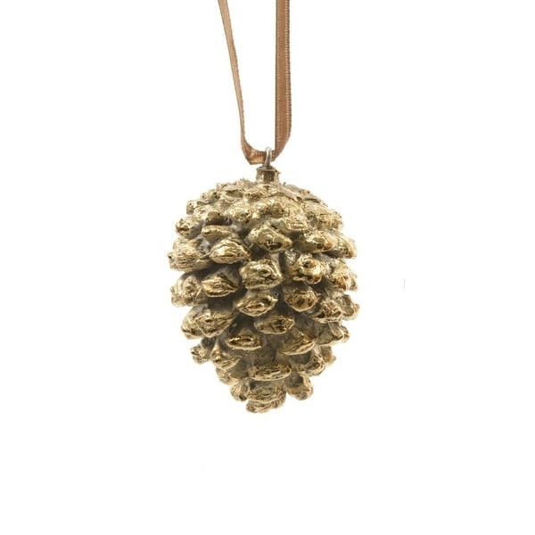 "2.75"" Luxury Lodge Shiny Gold Colored Pine Cone Decorative Christmas Ornament"