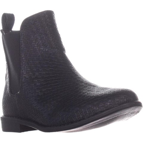 Wanted Prarie Zip Up Block Heel Ankle Boots, Black - 7.5 US