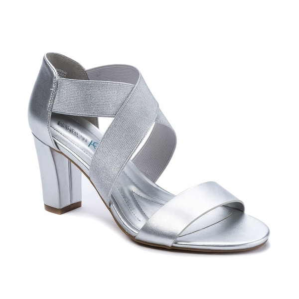 Shop Andrew Geller Queena Women s Heels Silver - Free Shipping Today ... 3fd0fd3a4bb4