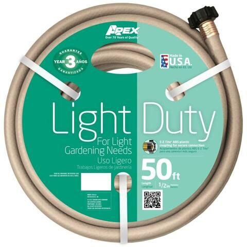 "Apex 7400-50 Light-Duty Garden Hose, Beige, 1/2"" x 50'"