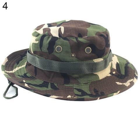 Flat Roof Military Hat Cadet Patrol Bush Hat Outdoors Climbing Fishing Boonie Cap