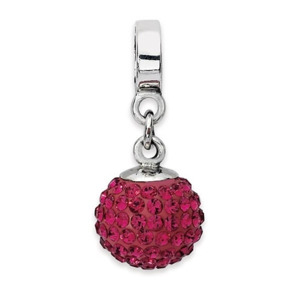 Sterling Silver Reflections July Swarovski Elements Ball Dangle Bead (4mm Diameter Hole)