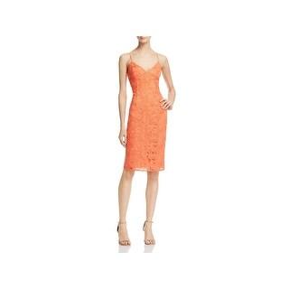 Guess Womens Jillian Slip Dress Lace Sheath
