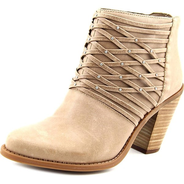 Jessica Simpson Claireen Women Round Toe Leather Tan Bootie
