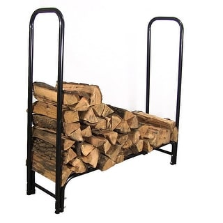 Sunnydaze Firewood Log Rack - Black