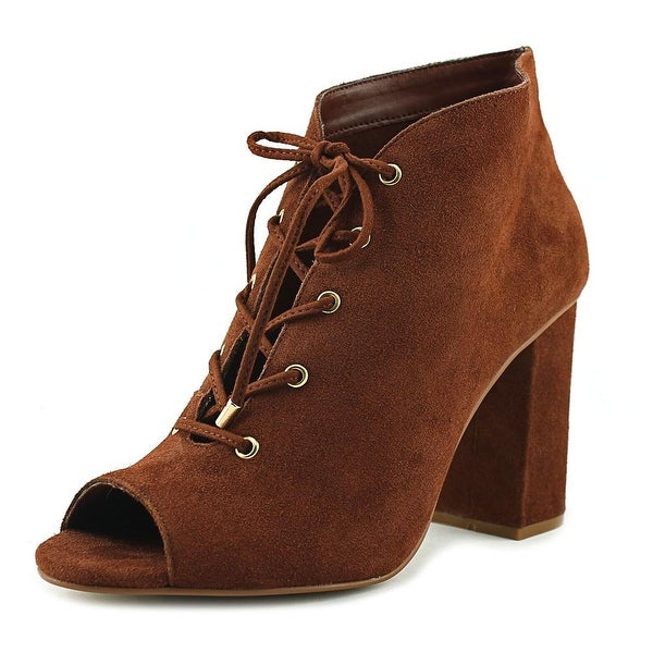 Very Volatile Zeno Women Open-Toe Suede Tan Bootie