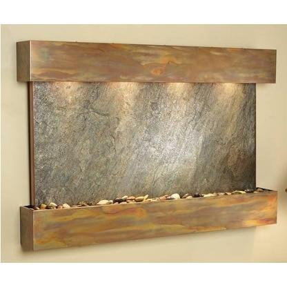 Adagio Sunrise Springs Wall Fountain Green FeatherStone Slate Rustic Copper - SS