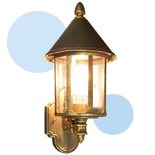 Gorgeous Golden Black Finished Outdoor Wall Light Fixture Lantern Exterior