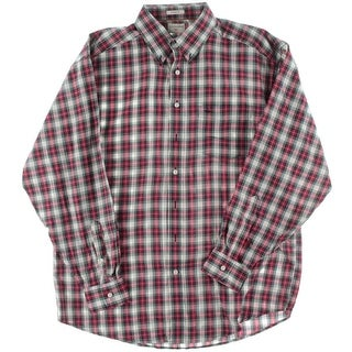 Dockers Mens Woven Plaid Button-Down Shirt - lt