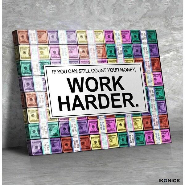 IKONICK Work Harder. ( Pastel Edition ) Canvas Art