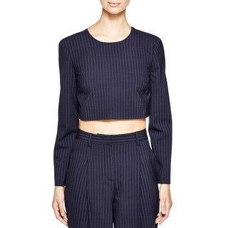 DKNY Womens Crop Top Wool Crossover - 2