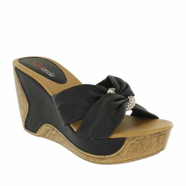 Red Circle Footwear Malinda Slip On Embelished Wedge