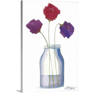 """Flowers in a Jar VII"" Canvas Wall Art"