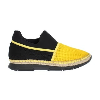 Dolce & Gabbana Yellow Black Mesh Neoprene Sneakers