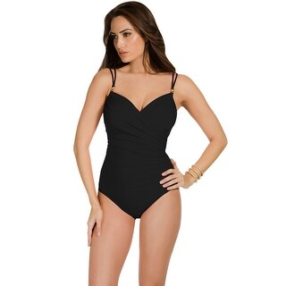 Miraclesuit Solid Black Captiva Underwire One Piece Swimsuit