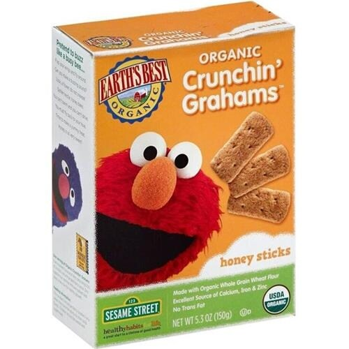Earth's Best - Organic Sesame Street Crunchin' Grahams Honey Sticks ( 6 - 5.3 OZ)