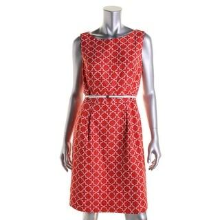 Tahari ASL Womens Irisa Sleeveless Pleated Wear to Work Dress - 2