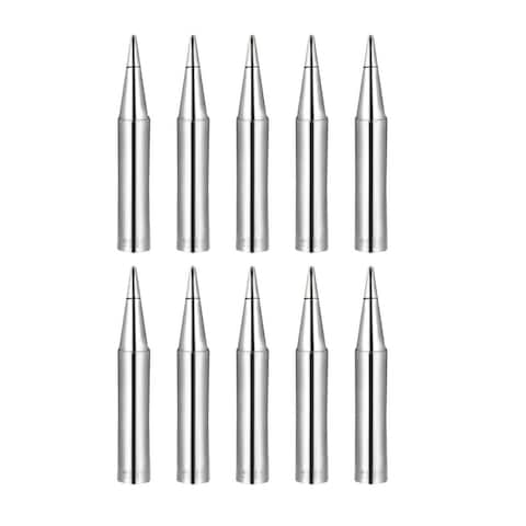Soldering Iron Tips Flat Edge Replacement f Solder Station Tip 900M-T-0.8D 10pcs - Silver - 900M-T-0.8D 10pcs