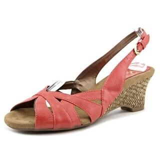 A2 By Aerosoles Zenchilada Open Toe Synthetic Wedge Heel
