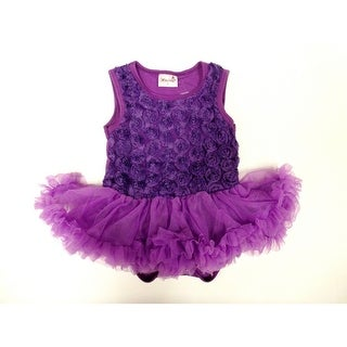 Purple Rose Sleeveless Tutu Baby Girl Bodysuit S-L