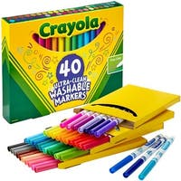 Assorted Colors 40/Pkg - Crayola Ultra-Clean Fine Line Markers