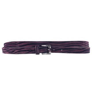 Roberto Cavalli Purple Suede Striped Wrap Around Belt