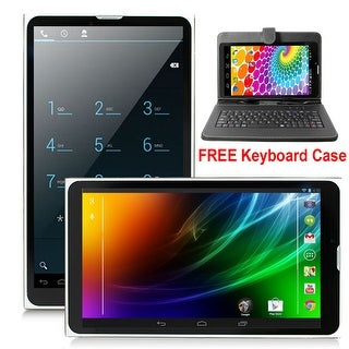 """Indigi® A76 Factory Unlocked 7.0"""" Dual-Core Android 4.4 KitKat 2-in-1 TabletPC + DualSim SmartPhone w/ Keyboard Case Included"""