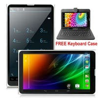 "Indigi® A76 Factory Unlocked 7.0"" Dual-Core Android 4.4 KitKat 2-in-1 TabletPC + DualSim SmartPhone w/ Keyboard Case Included"