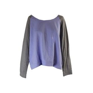 Jenni Juniors Purple Colorblocked Pajama Top L