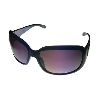 Ellen Tracy Womens Sunglass Black Plastic Rectangle, Gradient Lens 517 1 - Medium