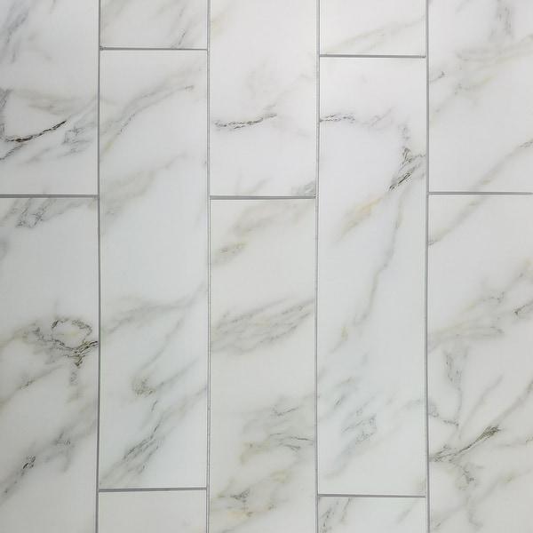 "Miseno MT-WHSWTJ0416-CG Nature - 4"" x 16"" Rectangle Wall Tile - Matte Visual - White"