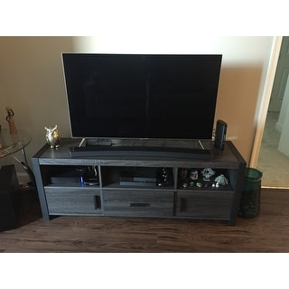 shop angelo home 60 inch tv stand console on sale free shipping today 11651529. Black Bedroom Furniture Sets. Home Design Ideas
