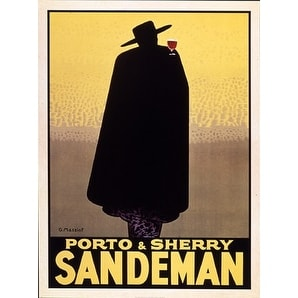 ''Sandeman'' by Georges Massiot Vintage Advertising Art Print (31.5 x 23.5 in.)