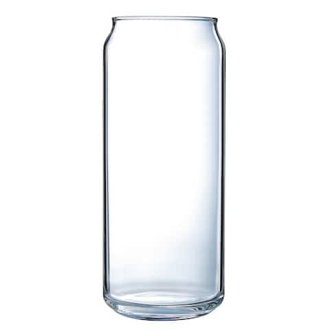 Luminarc Craft Brew 16 Ounce Can Glass Tall Boy, Set of 4