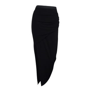 Rachel Roy Women's Ruched Maxi Skirt ( Black, S)