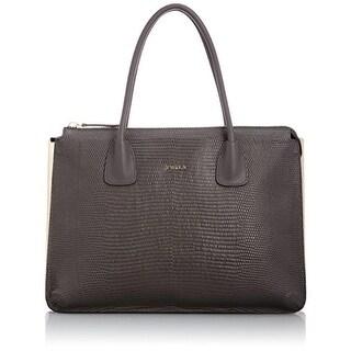 Furla Womens Jade Leather Colorblock Tote Handbag - Mist - Large