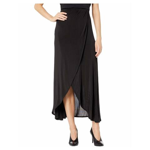 FREE PEOPLE Womens Black Maxi Wrap Skirt Size: XS