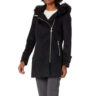 Link to Calvin Klein Women's Coat Black Size Small S Faux-Fur Collar Wool Similar Items in Women's Outerwear