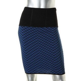 Catherine Malandrino Womens Printed Fitted Pencil Skirt - S