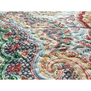 Bedsure Marrakesh Microfiber Paisley Ethnic Boho Quilt Set with Pillow Sham