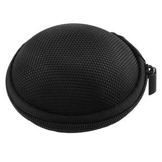 Earphone Headphone Carrying Hard Hold Case Storage Bag Box Pocket Black