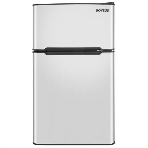 3.2-Cu.ft 2-Door Compact Refrigerator with Freezer