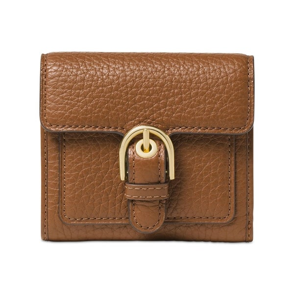 Michael Kors Womens Cooper Trifold Wallet Leather Pebbled - o/s