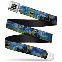 Batman Full Color Black Yellow Batman Dark Starry Night Webbing Seatbelt Seatbelt Belt
